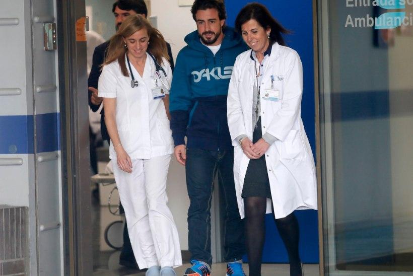 Fernando Alonso sai haiglast välja