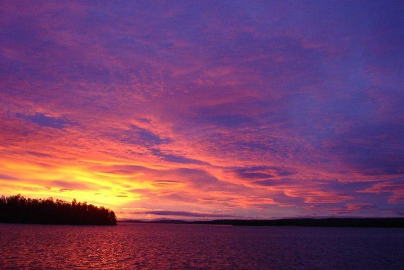Lapimaal, Inari järve peal rääbist püüdmas