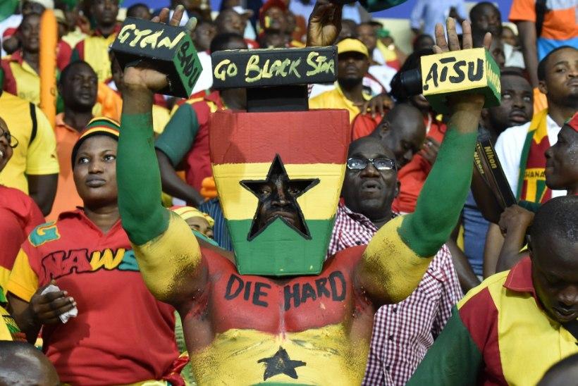 VIDEO: Ghana fännid tahtsid mängu lähemalt näha?