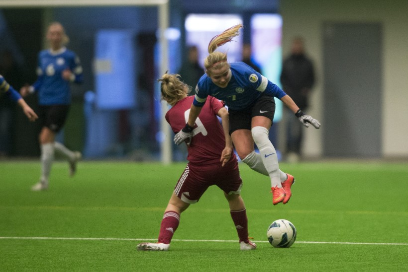 GALERII ja VIDEO  Eesti naiste jalgpallikoondis alustas hooaega väärt võiduga
