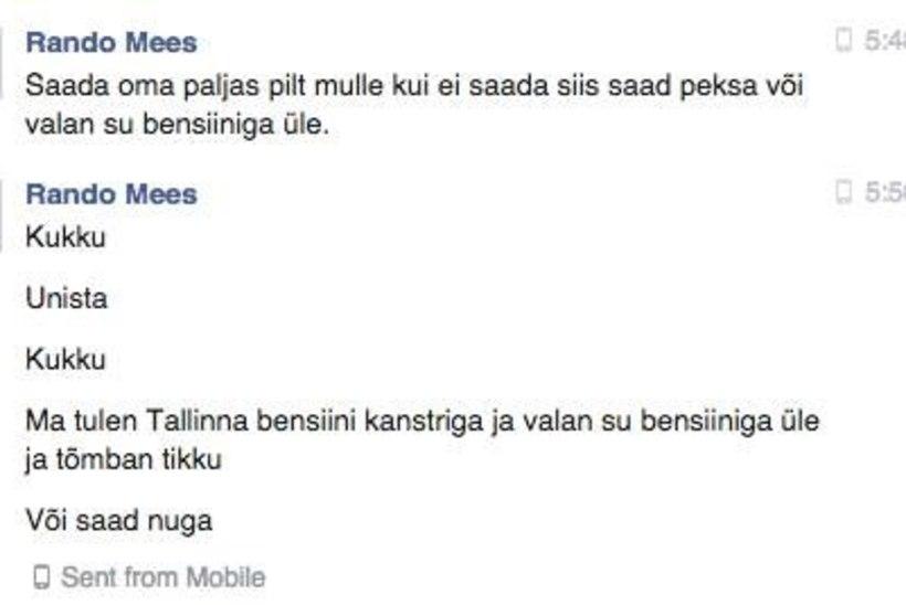 Madli Vilsar: mind lubati pussitada ja põlema panna, politsei meelest oli see nali