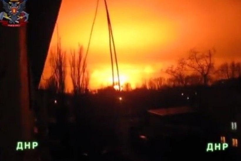 VIDEOD: Donetskis toimus võimas plahvatus, lööklaine tabas kogu linna