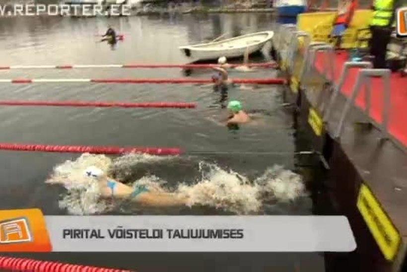 """""""REPORTERI"""" VIDEO: Pirital võisteldi taliujumises"""