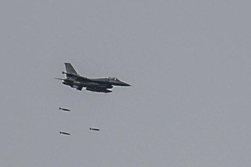 GALERII: USA hävituslennukite F16 õppus kaitseväe keskpolügoonil