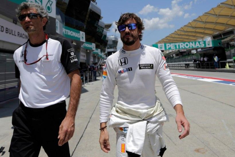 GALERII: ringrajale naasnud Alonso kaotas parimatele pea kolme sekundiga