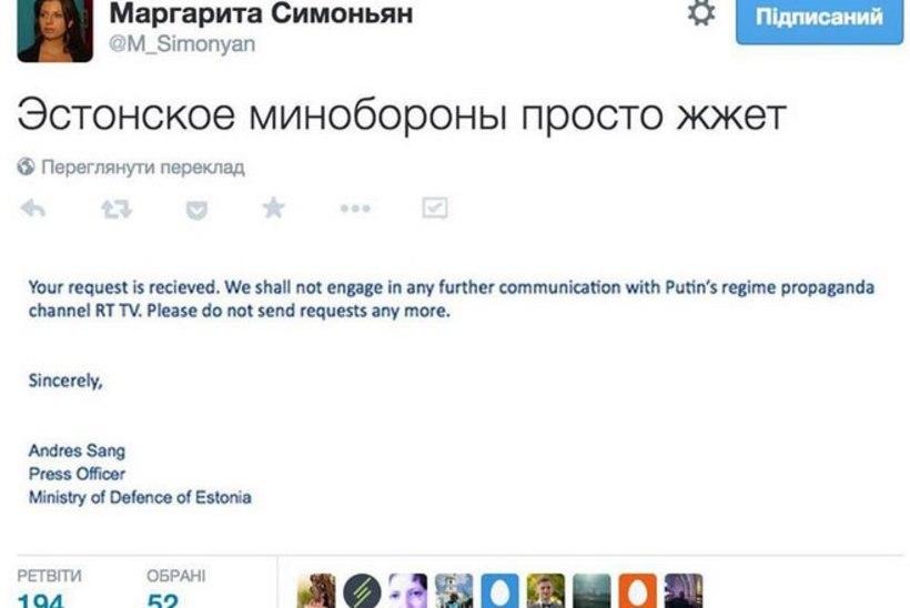 Kaitseministeerium keeldus suhtlusest Vene propagandakanaliga Russia Today