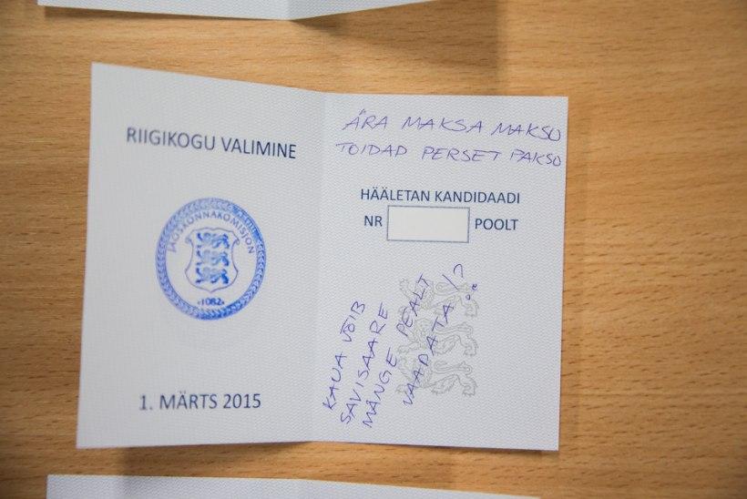 Tallinna valimiskomisjon rikutud valimissedeleid sel aastal avalikkusele ei näita