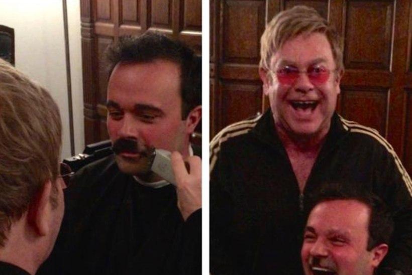 VIDEO: Elton John ajas vene meediamagnaadil habeme ja kulmud maha