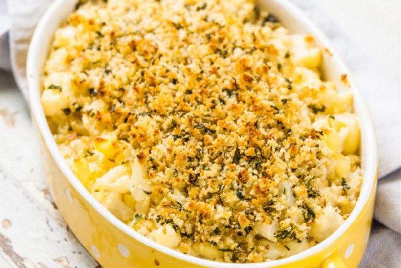 Makaronivorm juustu ja lillkapsaga