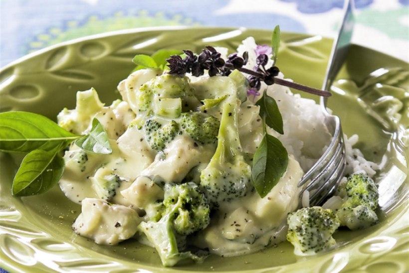 Kanapada basiiliku ja brokoliga