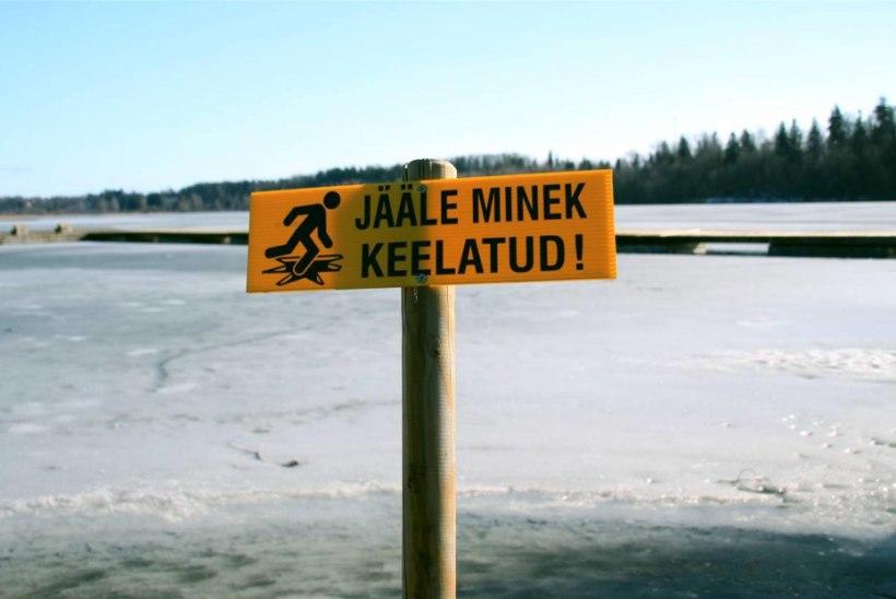 Homsest läheb suur osa Peipsi järve jääst kalastajatele lukku.