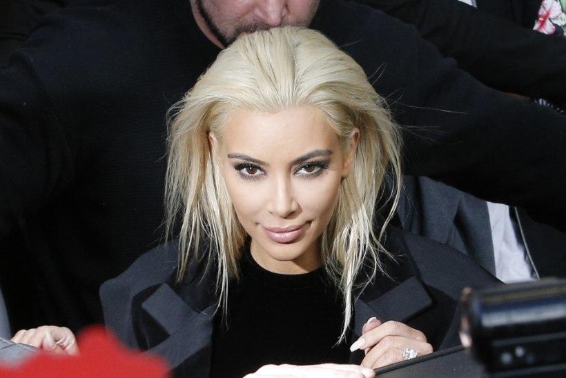 FOTOD: Kim Kardashian värvis juuksed plaatinablondiks!