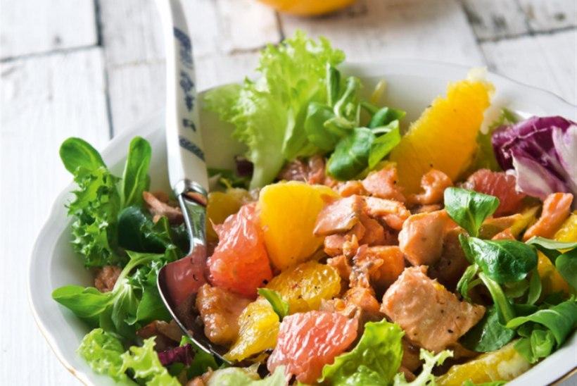 Lõhesalat apelsini ja greibiga