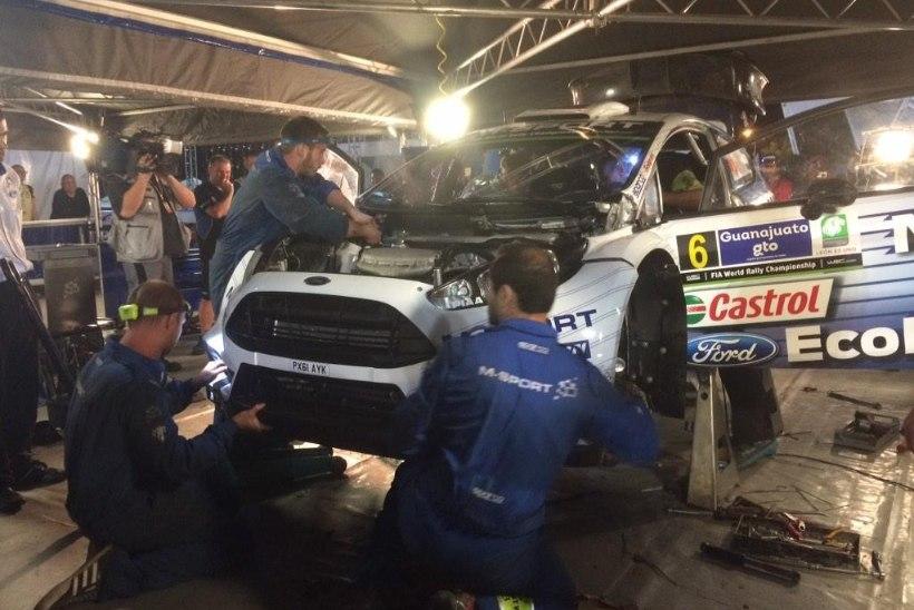 VIDEO ja FOTOD: M-Spordi mehhaanikud tegid imelist tööd ja putitasid 10 tundi vee all olnud Tänaku auto tööle, eestlane täna stardis!