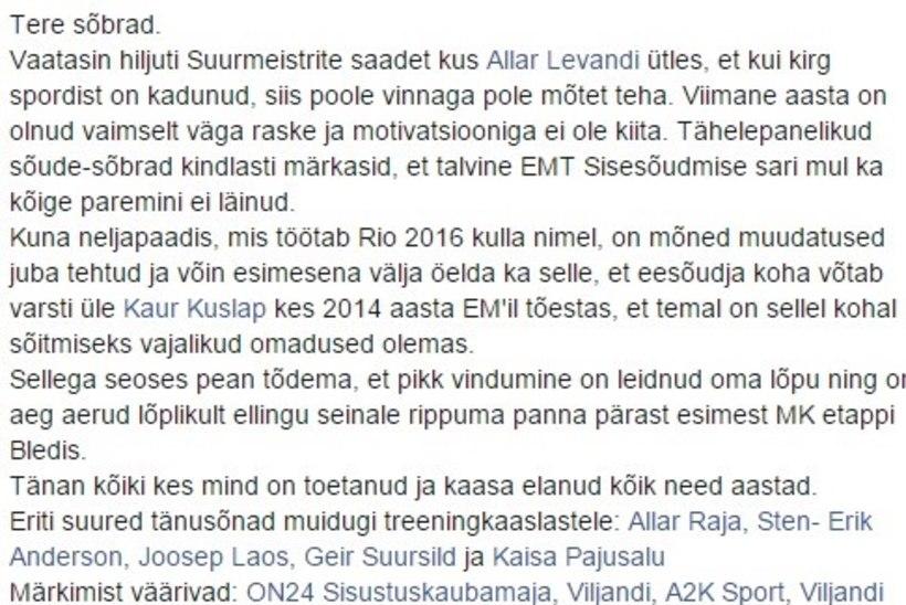 APRILLINALJAD SPORDIMEEDIAS: Kaspar Taimsoo lõpetab karjääri, Rauno Alliku liitub Curly Stringsiga, Liivak siirdub Tammekasse