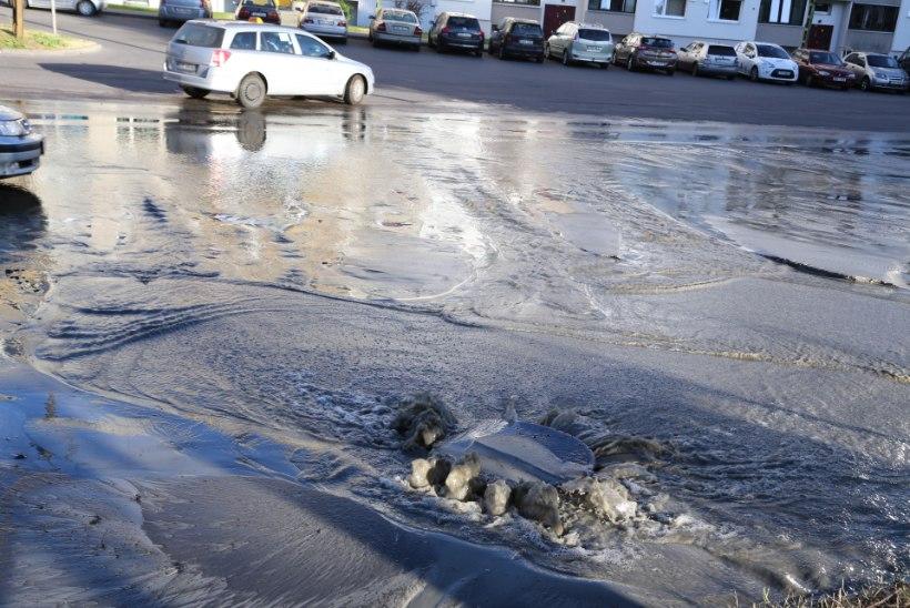 Tallinnas Mustamäel on veeavarii, liiklus häiritud