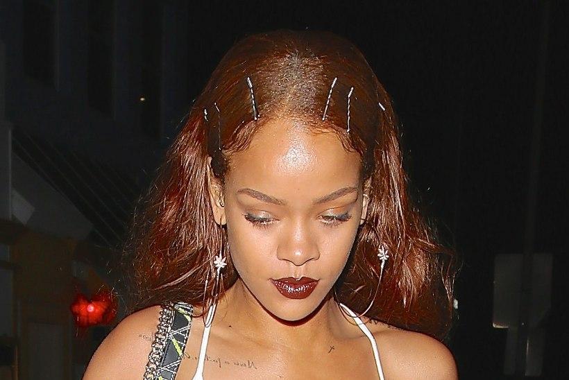 FOTOUUDIS: rinnahoidjata Rihanna ostis kalli pudeli veini!
