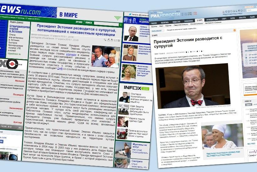 Eesti esipaari lahutus lõi Venemaa meedia kihama