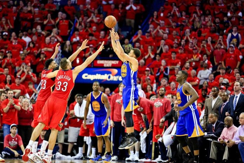 Ebareaalne vend - MVP-tiitli poole marssiv Stephen Curry pani sellise mammu, et oi-oi-oi