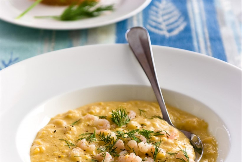 Maisi-piimasupp krevettidega