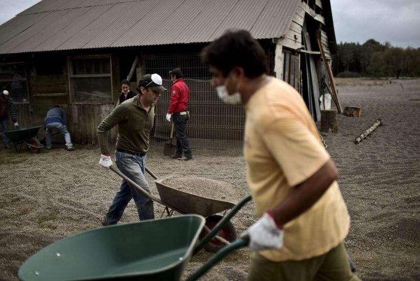 FOTOD   Tšiili linn mattus vulkaanituha alla