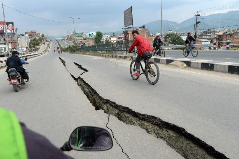 EESTLANE NEPALIS: Katmandus on elu taastumas