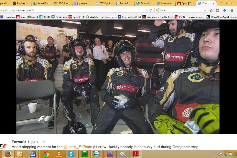 Barcelonas selgus, et F1-mehaanikud on rauast mehed!
