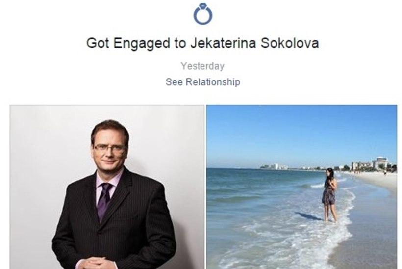 RÕÕMUSÕNUM: Sven Soiver kihlus oma kallimaga