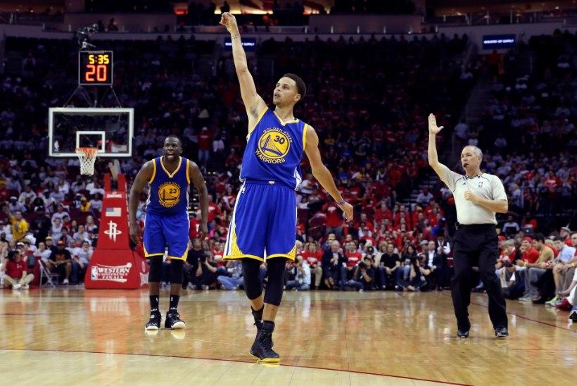 VIDEO | Warriors võidu kaugusel finaalist, Curry tegi ajalugu