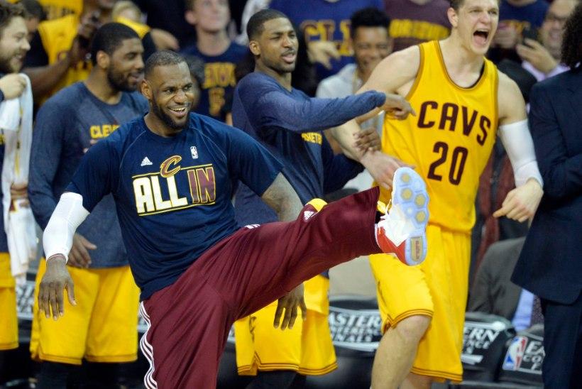 Cleveland Cavaliers lõpetas Atlanta Hawksi piinad hävitustööga