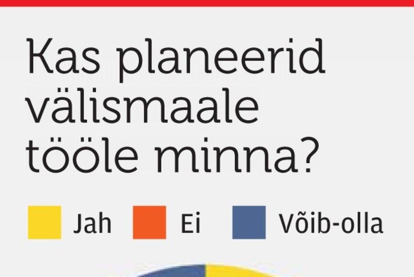 Kohvrid pihku? Vähemalt iga kümnes tööotsija soovib Eestist kohe lahkuda