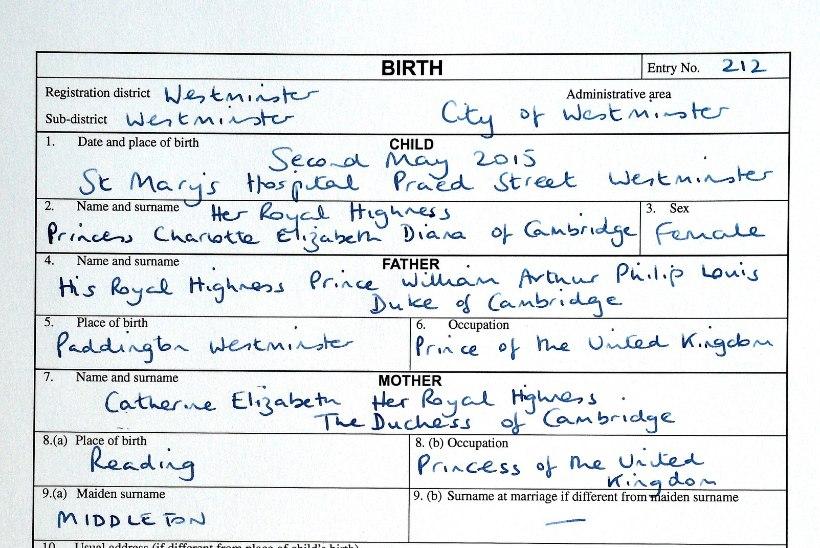 FOTO | Vaata printsess Charlotte´i sünnitunnistust