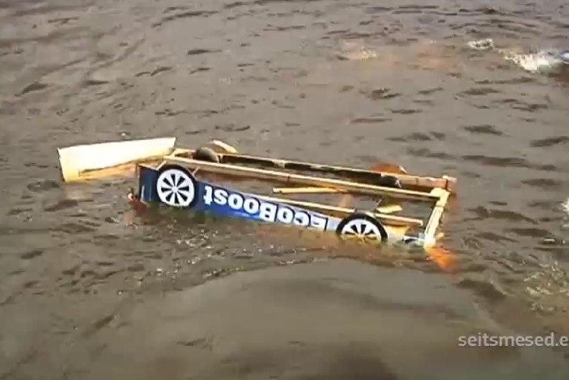 TV3 VIDEO | Tartu tudengid taaslavastasid Tänaku-Mõlderi ilmakuulsa vettesõidu