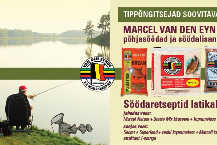 Suurim valik Marcel Van Den Eynde söötasid parima hinnaga Kalastuskeskusest!
