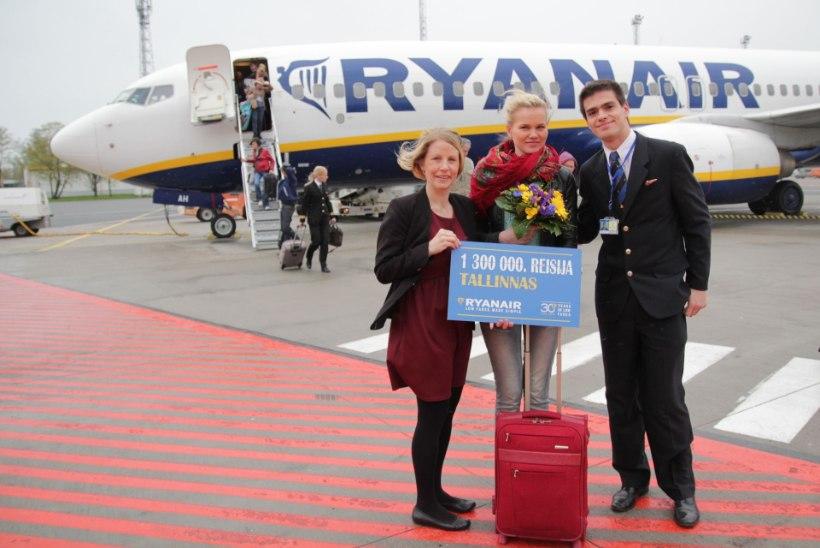 Ryanairil täitus Tallinna lennujaamas 1,3 miljonit reisijat
