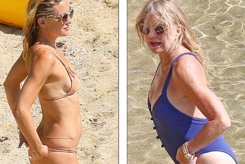 SEKSIKAD KAADRID: Kate Hudson käis emaga rannas...