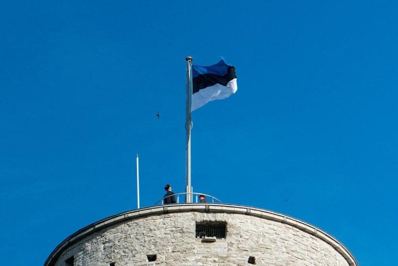 GALERII | Pika Hermanni torni heiskasid täna riigilipu kooliõpilased