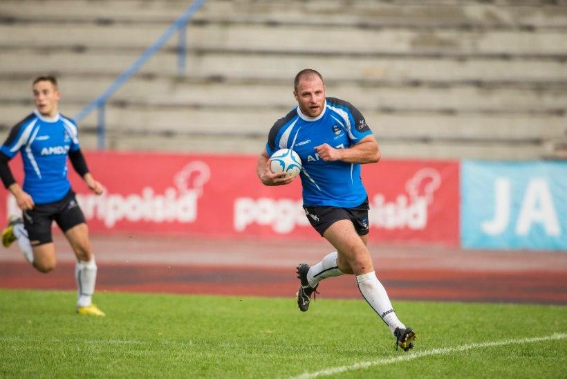 Eesti olümpiaragbi meeskond mängib EMi vutikoondisele 0:7 kaotuse toonud staadionil