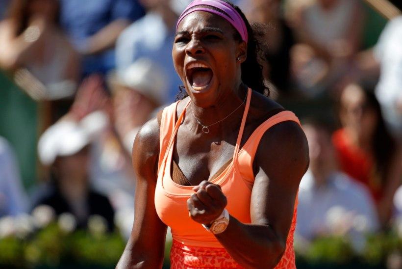 GALERII   Prantsuste lahtiste tšempion Serena Williams astus ajaloolisele saavutusele sammu võrra lähemale