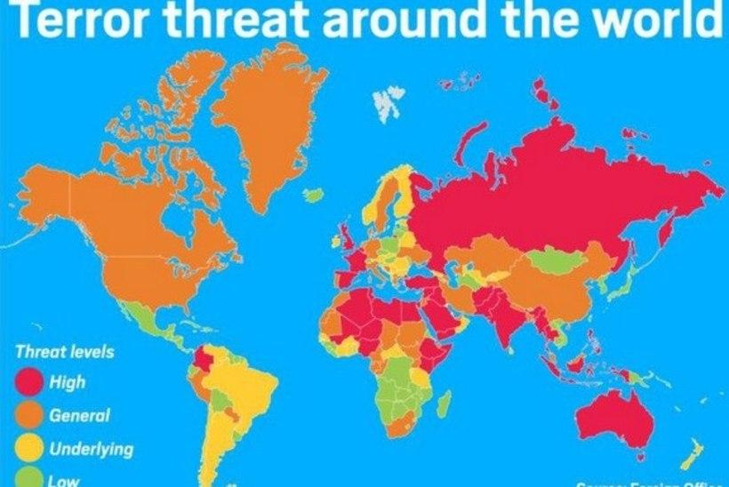 VAATA KAARTI: kas sinu puhkust ähvardab terrorism?