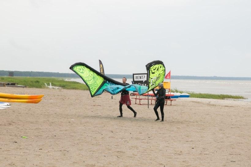 ÕHTULEHE VIDEO | KÜLM ON! Pärnus suplema ei kipu, ent surfamiseks on ilm ideaalne