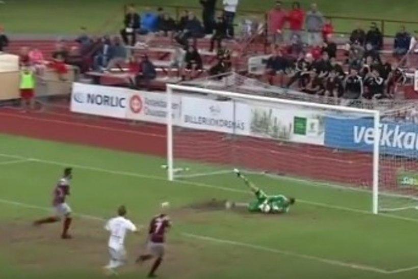 VIDEO   Mihkel Aksalu püüdis Soome liigas penalti