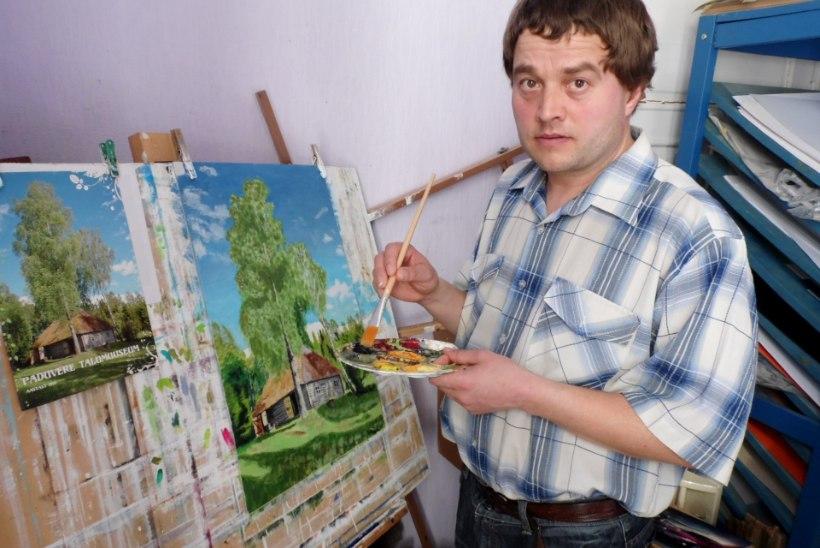 Guido Kangur - sügava puudega mees, kes võlub värvidega lõuendile pilkupüüdvaid maastikke