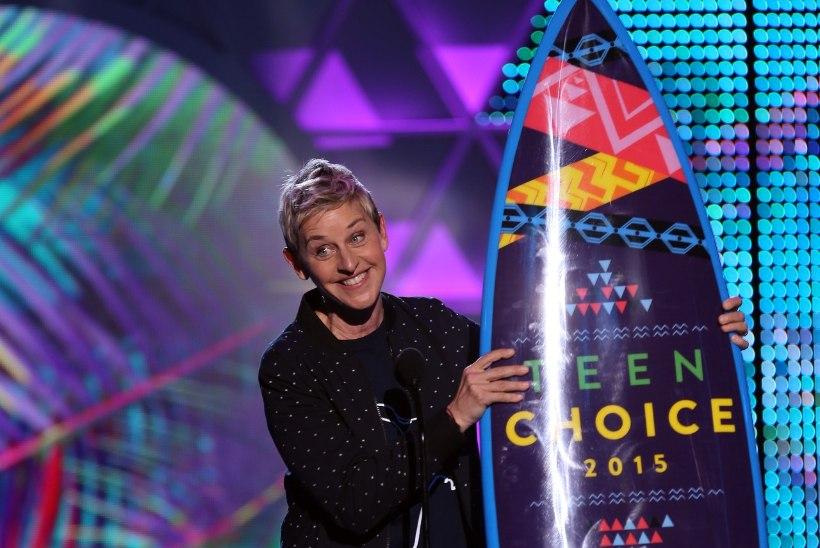 Ellen pühendas auhinna oma naisele