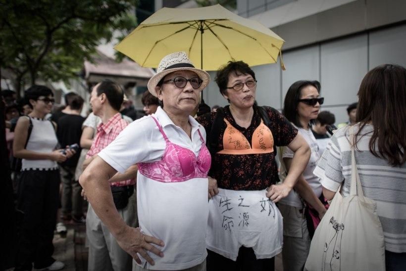 FOTOD: Hongkongis peeti meeleavaldust rindade kaitseks