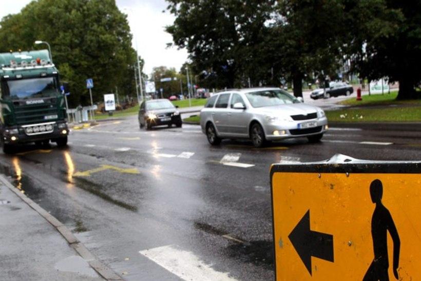 Tallinnas Põhja puiestee ristmikul muutub esmaspäeval liikluskorraldus