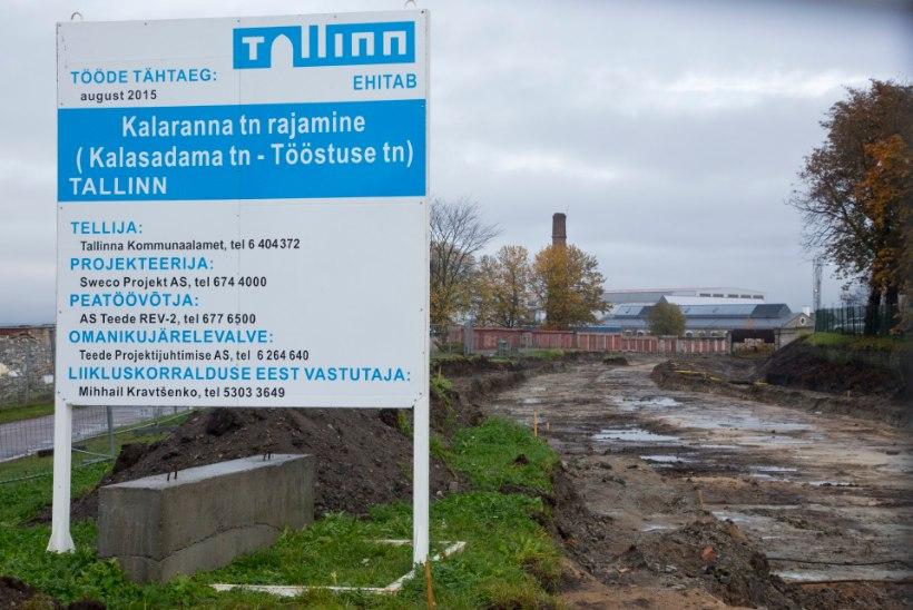 TEHTUD: Põhja-Tallinnas avatakse Kalaranna tänav