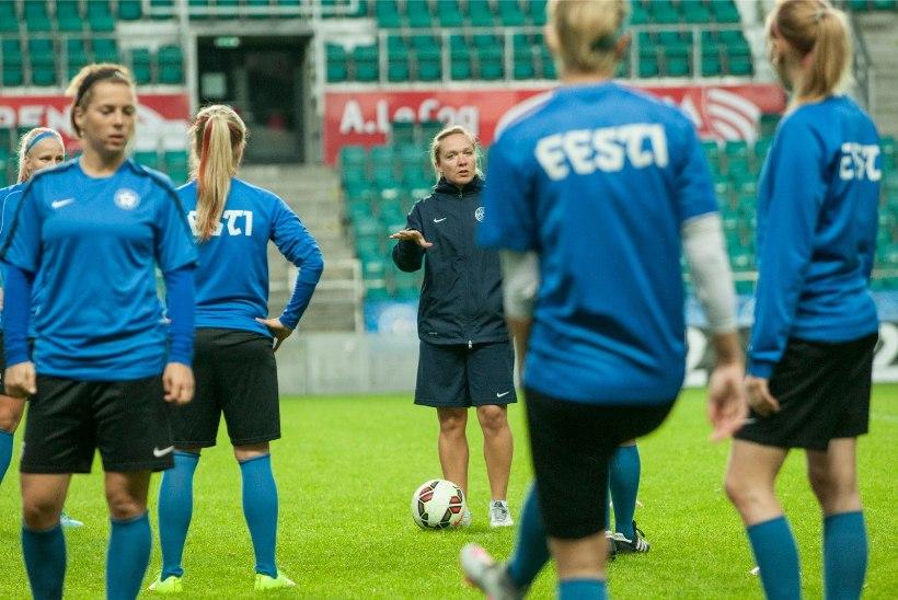 GALERII | Eesti naistekoondis valmistub mänguks Inglismaa tähtede vastu