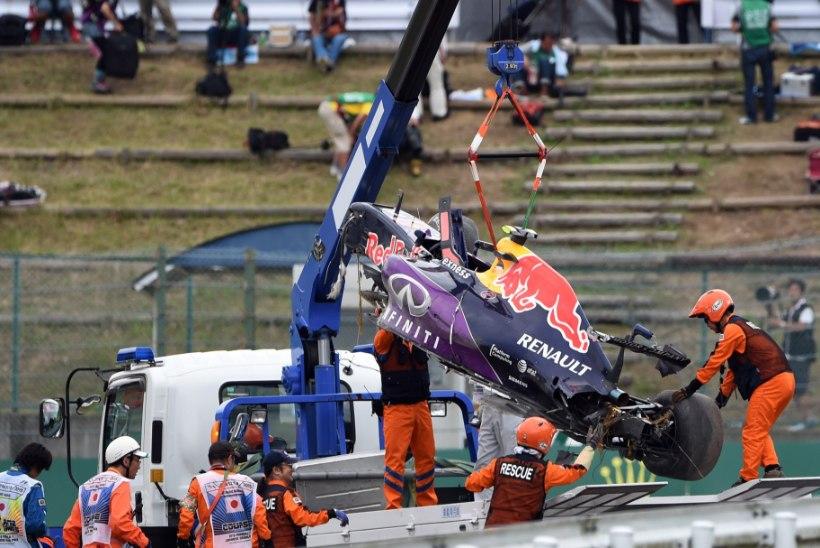 Karmi avarii teinud Kvjat lubab masina koos mehaanikutega üles putitada: olen nii kaua üleval, kui vaja