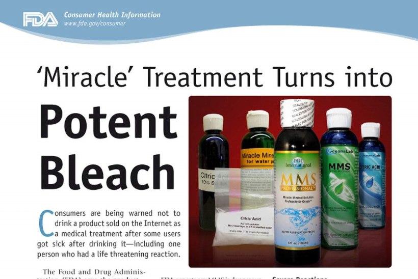Ravimiamet: MMS toodete kasutamine ravi eesmärgil tuleb kohe lõpetada